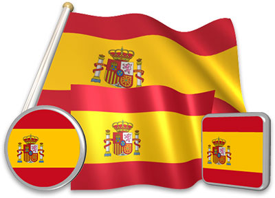 Spanish flag animated gif collection