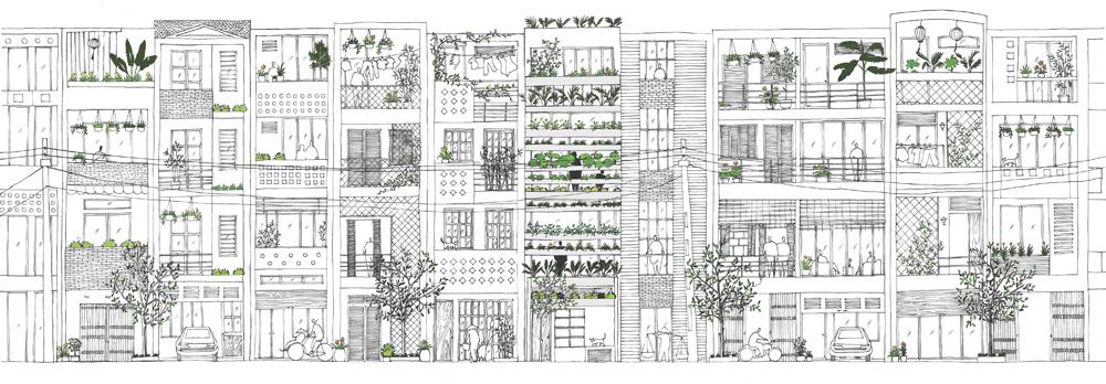 Stacking Green design by Vo Trong Nghia, Daisuke Sanuki, Shunri Nishizawa