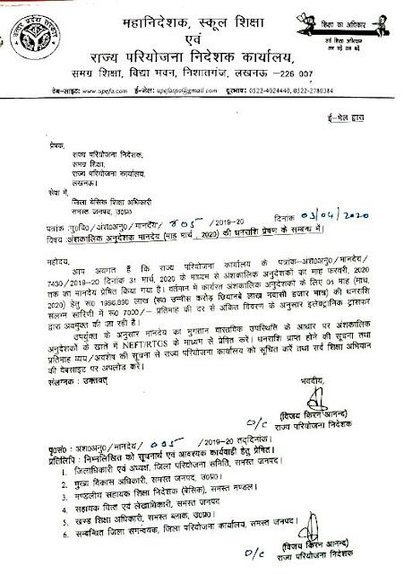 प्रतापगढ़ जिले के शिक्षकों ने मुख्यमंत्री कोविड केयर फंड में दिया एक दिन का वेतन, Pratapgarh Teacher salary