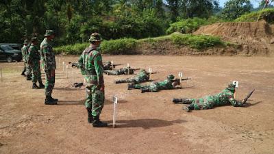 Gelar Latihan Menembak Kodim 0311/Pessel Terapkan Protokol Kesehatan