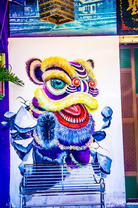ペナン ジョージタウン ストリートアート Lion Dance2
