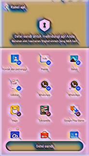 Mengunci aplikasi