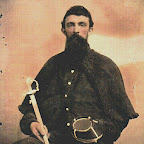 Robert Harvey Gleaves 1836-1901 In his Civil War Calvary Uniform Son of Dr. Samuel Crockett Gleaves