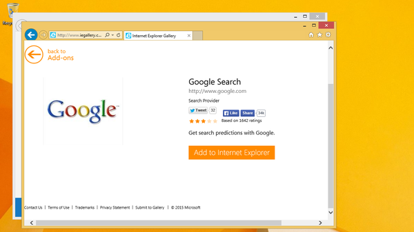 Google Search IE Gallery