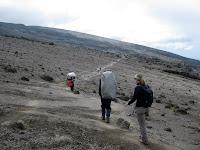 Kili Climb Day 4 - barren, dry, lunar landscapes