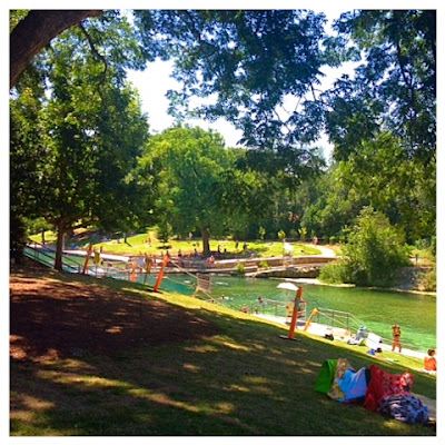 Barton Springs is so gorgeous and refreshing. - www.lifeinrandombits.com