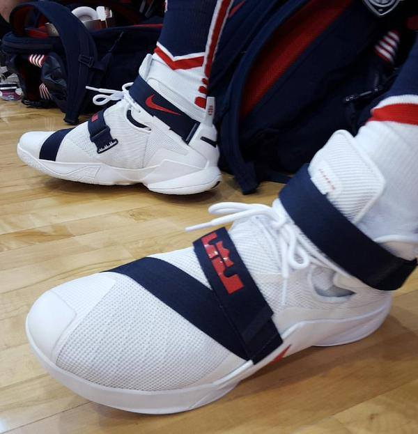 info for e472b a91d4 ... Closer Look at LeBrons Nike Soldier 9 USA Basketball PE ...