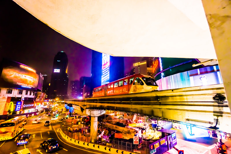 Bukit Bintang station night KL monorail1