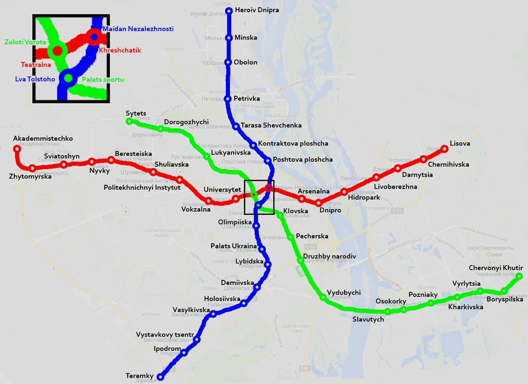 Kyiv Metro Schemes & Schedule