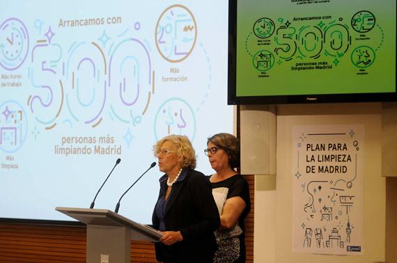 500 trabajadores más para la limpieza de las calles de Madrid