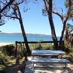 Picnic table at Pearl Beach (220808)