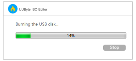 copies content to USB drive