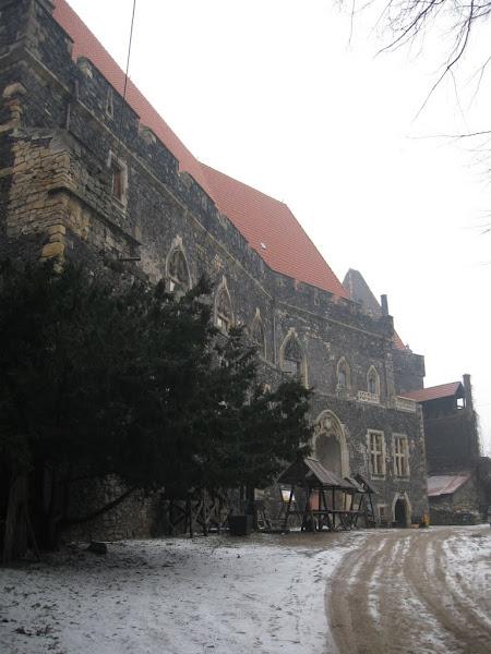 Zamek Grodziec- palatium na dziedzińcu