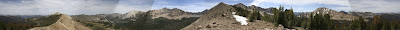 Panorama of Ants Basin and Sawtooth Mountains