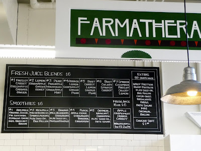 Farmatherapy smoothie menu at Local Choice Market