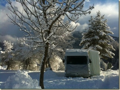Snow Covered Motorhome