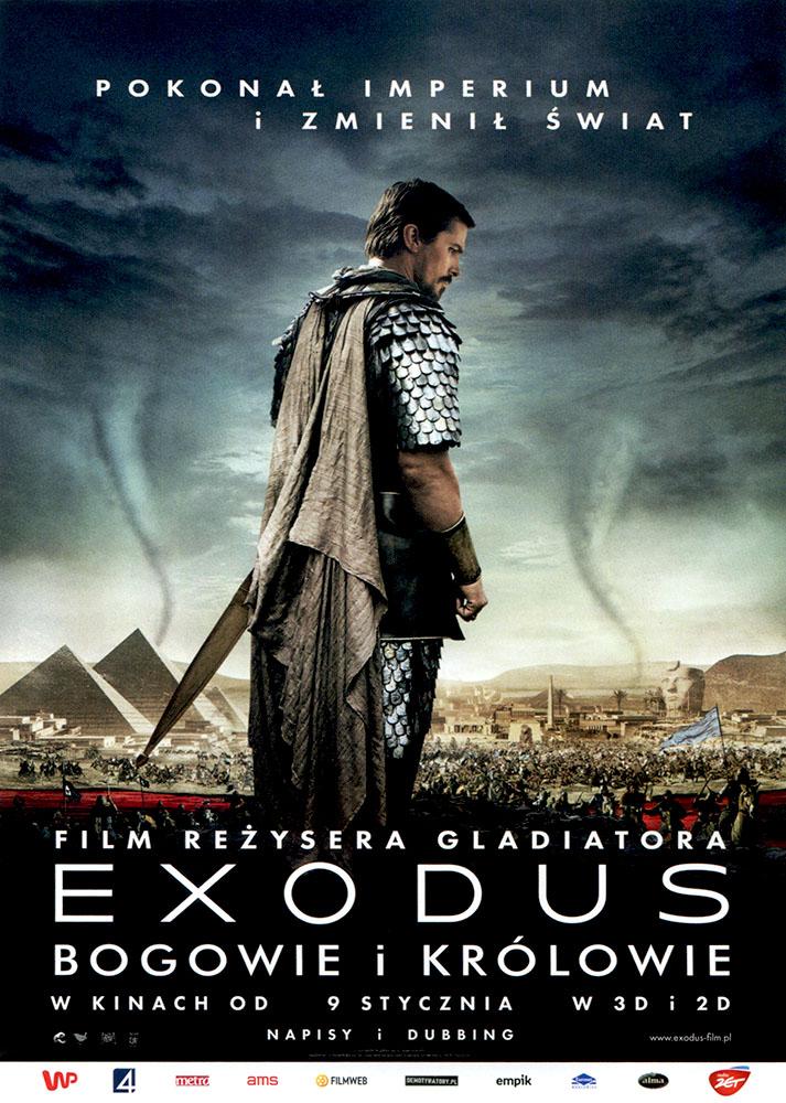 Ulotka filmu 'Exodus: Bogowie i Królowie (przód)'