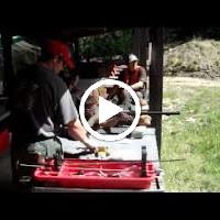 Matthew shooting the Black Powder Rifle