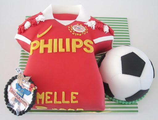 801- Voetbalshirt PSV Taart.JPG