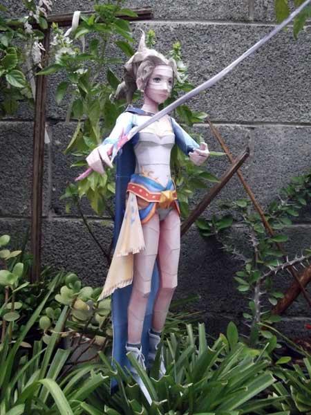 Narshean Princess Terra Branford Papercraft