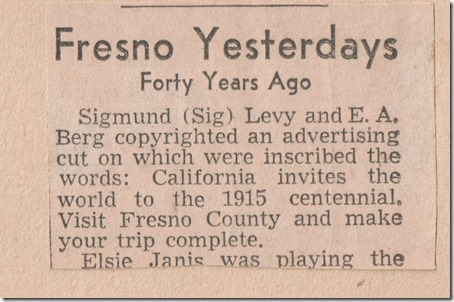 Page 1 Fresno Yesterdays Mar 22 1932