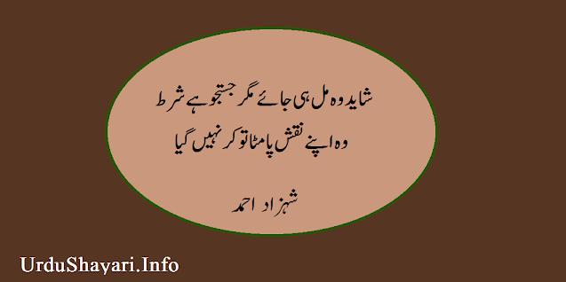 Shayed wo mil hi jaye two line shayari in urdu