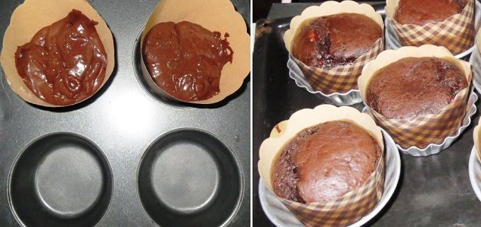 Homemade Chocolate Brownie Cupcakes Recipe | Fudgy Brownies in a Cupcake | Eggless Chocolate Brownie Cupcake Step by Step Recipe | Written by Kavitha Ramaswamy of Foodomania.com