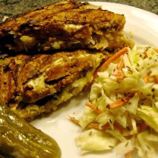 Tada!  The Plant-Based No-Oil Reuben Sandwich