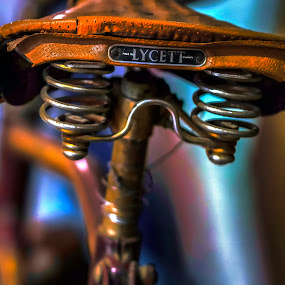 Vintage Lycett Saddle by Sarah Hauck - Transportation Bicycles ( bike saddle, england, lycett, vintage bike seat, springs )