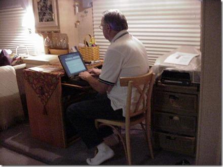 MVC-704S gary at computer
