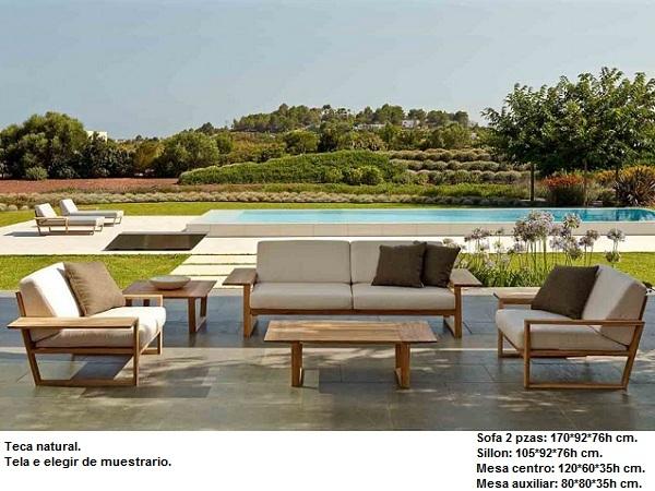 Mobiliario para jardin dise os arquitect nicos for Mobiliario de jardin de madera