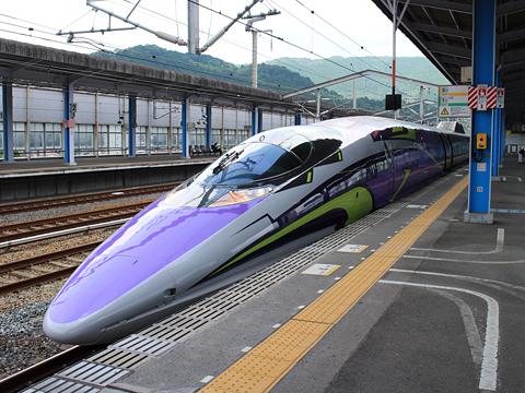 JR西日本 山陽新幹線「こだま741号」500 TYPE EVA 新岩国駅にて その5