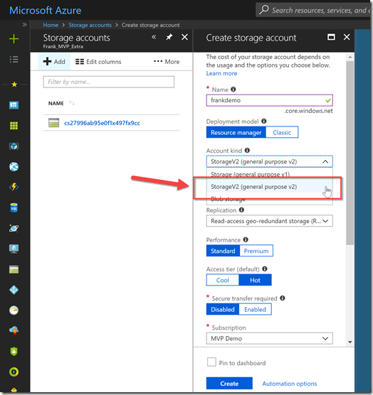 Franky's Notes: How create a static website on Azure Storage
