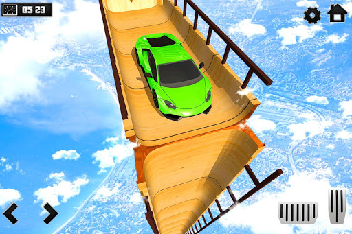 Sky Ramp Car Mega Stunts Big Jump 1.0 screenshots 1