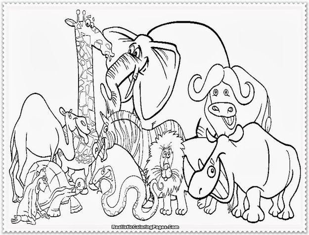 Zoo Animal Coloring Pages Realistic Coloring Pages With Zoo Animals  Coloring Pages