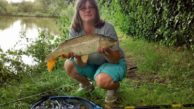 Reed Ponds carp caught by Bev