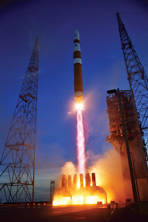 CAPE CANAVERAL AIR FORCE STATION, Fla. -- A Delta IV rocket lifts off from here Aug. 29.  A Defense Satellite Communication System was placed into orbit by the rocket.  It was the last of the system to be launched.  (U.S. Air Force photo by Carleton Bailie)