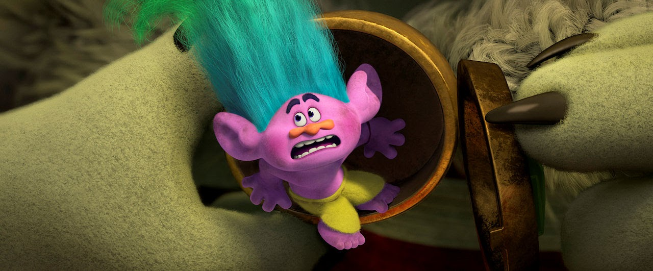Creek (voiced by Russell Brand) in TROLLS. (Photo courtesy of DreamWorks Animation).