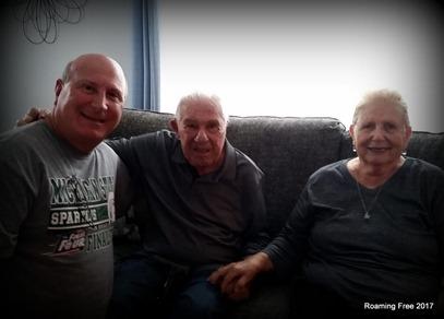 Tom with Aunt Olga and Uncle Freddie
