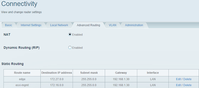 Routes added on physical router