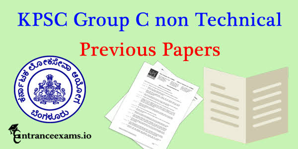 KPSC Group A & B Previous Solved Question Papers PDF Download