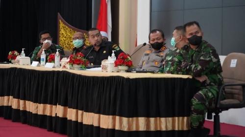 Wakil Gubernur Sumbar Rapat Bersama Fokopimda Persiapan Menyambut Hari Raya Idul Fitri 1442 Hijriah Tahun 2021