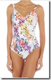 Fantasie floral print twist front swimsuit