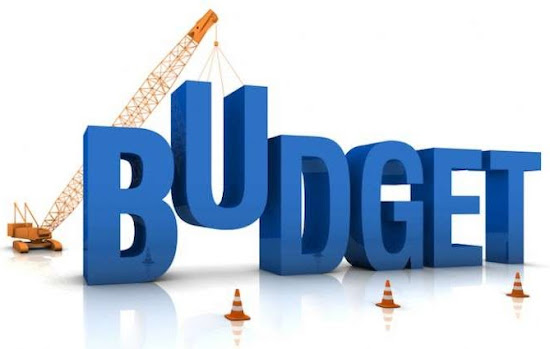 blue budget word under construction