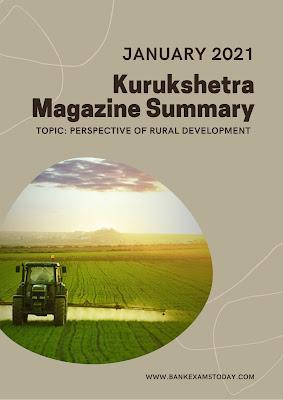 Kurukshetra Magazine Summary: January 2021