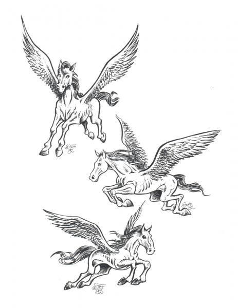 Design Of Horror Tattoo 2, Fantasy Tattoo Designs