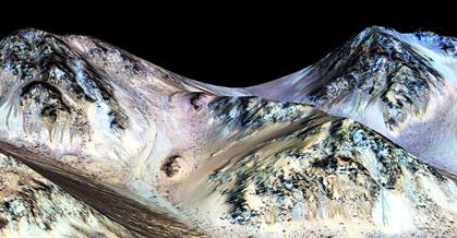 superfície de Marte sujeita à radiação ultravioleta