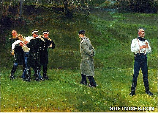 The-Duel-by-Ilya-Repin-1897