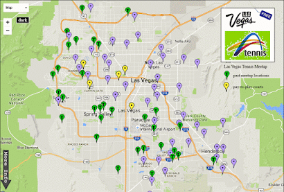 Las Vegas Tennis Courts Map