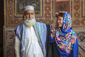 With Immam sahib at Masjid Wazir Khan, Lahore
